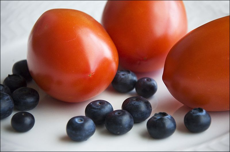 Tomatoes blueberries